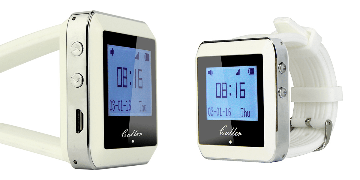 เครื่องรับสัญญาณ ระบบเรียกพนักงาน นาฬิกาข้อมือ LCD