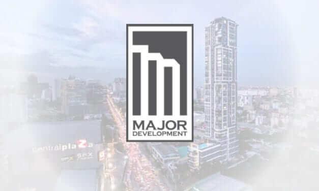 อาคาร เมเจอร์ ดีเวลลอปเม้นท์ จำกัด ติดตั้ง หน้าจอโฆษณาขนาดเล็ก ภายในลิฟท์